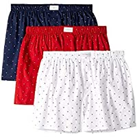 Tommy Hilfiger Men's Underwear Multipack Cotton Classics Woven Boxer