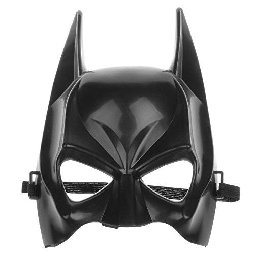 Hever Classical Cartoon Figure Batman Halloween Party Half Face Mask - Black