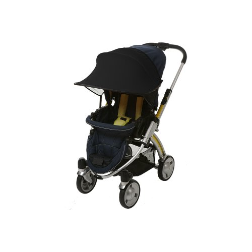 Manito Sun Shade for Strollers and Car Seats - Black (7 Available Colors) (Seat 50 Car Upf Sunshade)
