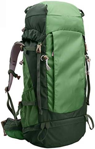 50Lアウトドアスポーツハイキングバックパック、 ポリエステル生地、 ロッククライミング/旅行、 男性と女性,Green