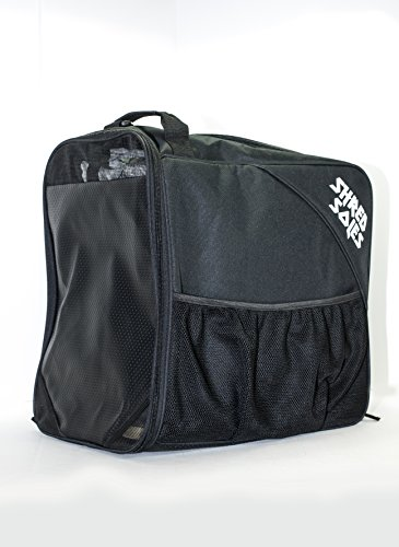 Shred Soles Snowboard Ski Boot Bag Pack with Changing Mat, Helmet & Goggle Pocket