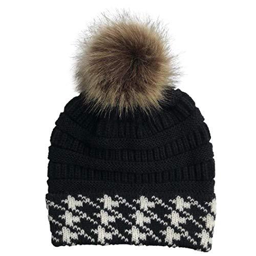 Stylish Embroidery Cuffed Skull Beanies Hats Women's Thermal Knitting Comfortable Wearing Bonnets