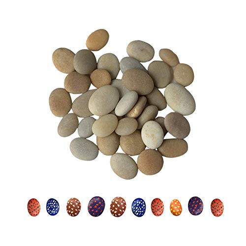 Lifetop 30pcs Tiny Painting Rocks DIY Rocks For Painting Sea Rocks Smooth Surface Stones,Arts and Crafts ,0.5 to 1.0 inches ,Hand Picked for Painting Rocks