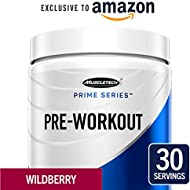 MuscleTech Prime Series Pre Workout Powder for Men/Women, Enhanced Energy Supplement for Better Workouts, Wildberry, 30 Servings (303g) - Amazon Exclusive