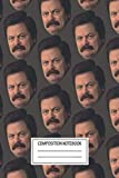 Notebook: Ron Swanson , Journal for Writing, Size 6' x 9', 164 Pages