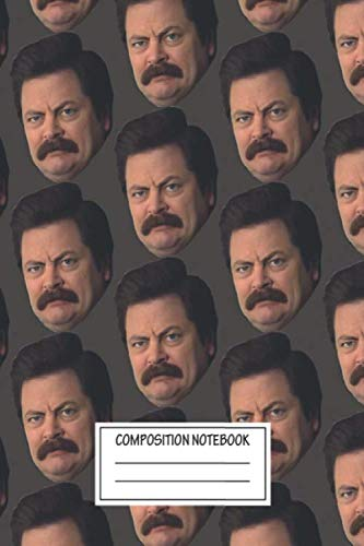 Notebook: Ron Swanson , Journal for Writing, Size 6