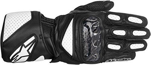Alpinestars SP-X Men's Leather Street Bike Motorcycle Gloves - White/Black / Large