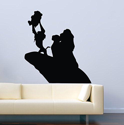 Amazon Com Disney Wall Decal For Boys Girls The Lion King Baby Simba Silhouette Rafiki Decor Vinyl Stickers Mk0993 Home Kitchen