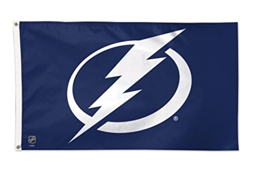 WinCraft NHL Tampa Bay Lightning Deluxe 3'x5' Premium Fabric Flag with Grommets - Tampa Bay Lightning Window