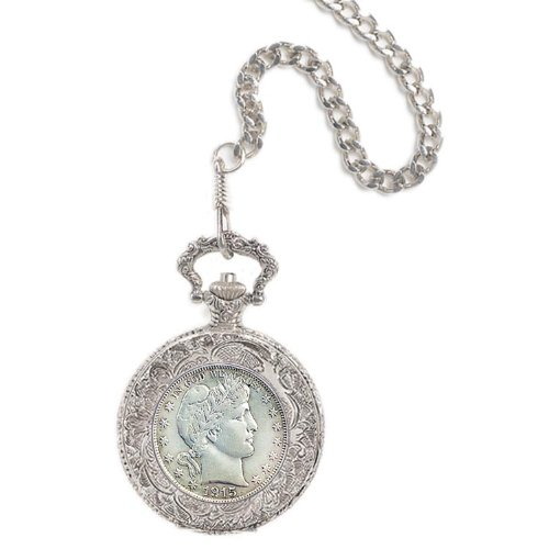 Pocket Dollar Watch (Silver Barber Half Dollar Pocket Watch)