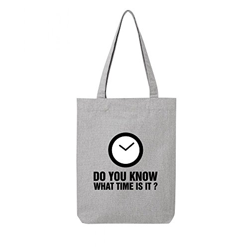 Tote bag en 01 recycle gris do know you toile qqpZwdr