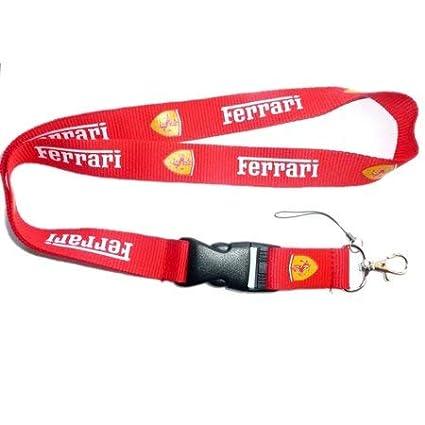 Tgh LanFERR-R Lanyard Llavero Rojo Sport con Logo Ferrari ...