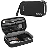 Acoki Travel Carry Bag,Electronic Accessories Thicken Cable Organizer Bag Portable Case for Hard Drives, Cables, Black(S…