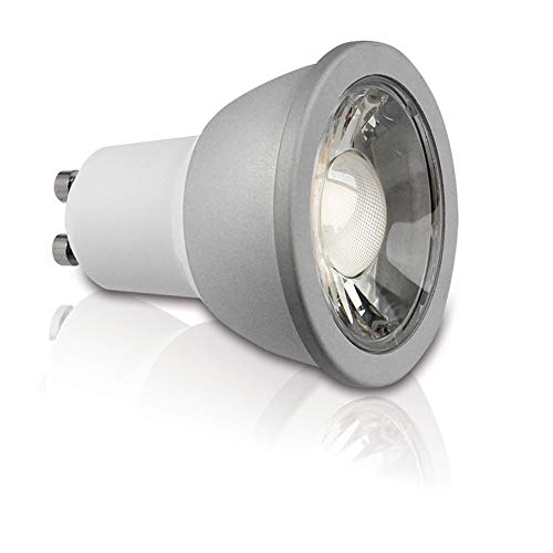 Lumilum GU10 High Performance LED Light Bulb Series (5500K Cool White) Equals a 50W Halogen Bulb, Super Bright and Crisp, 80 High CRI, Fully Certified, Commercial Grade, Rated 50,000 Hours, Dimmable