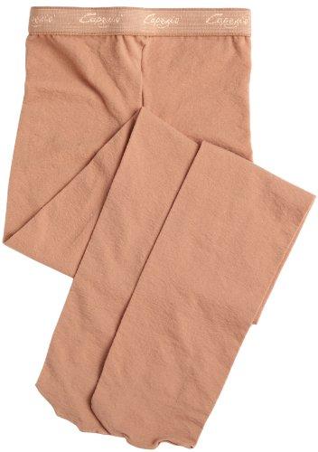 Capezio Little Girls' Microfiber Footed Tight Socks, Suntan, (Capezio Microfiber Tights)