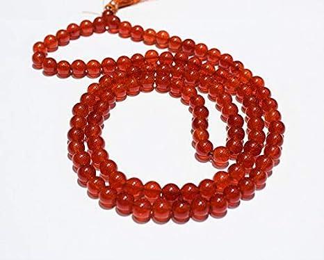Amazon.com: Red Jade mala 109 japa mala Hand Knotted mala ...
