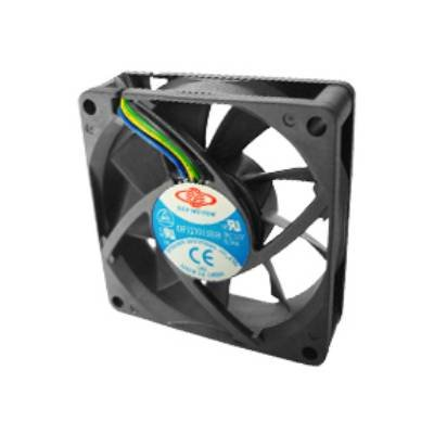Top Motor DF127015BH-PWMG 70x70x15mm 12 Volt 2 Ball Bearing 5000 rpm 0.48 amp 5.76 watts 39.31 cfm 6.02 mm/H2O 39.80 dBA 4 wires PWM function Cooling Fan