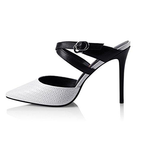 Sandaalit Tyylikäs Korkokengät Seksikäs Valkoinen Ohut Korkokengät Baotou Cjc Muoti ArzqgwA
