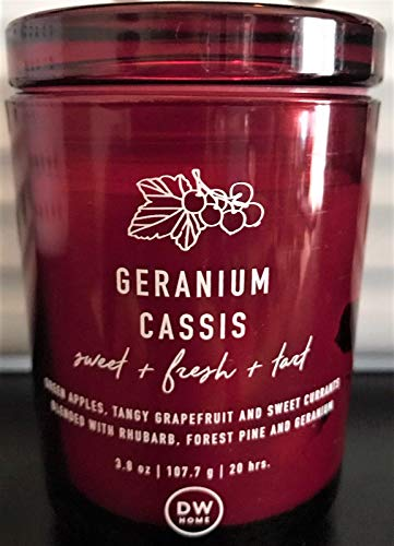 DW Home Richly Scented Votive Candle Geranium Cassis Fragrance, 3.8 oz.
