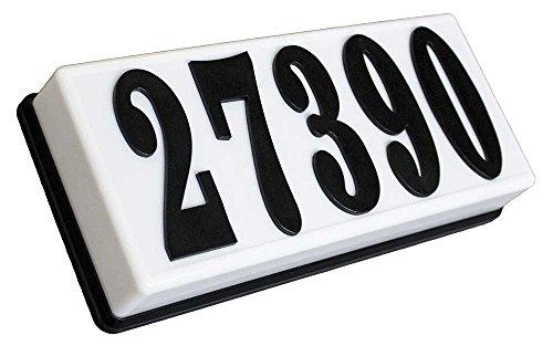 [해외]Qualarc SRP-AB01-BLK 4 인치 검정색 중합체 번호가있는 세라노 저전압 플라스틱 직사각형 점등 주소판/Qualarc SRP-AB01-BLK Serrano Low Voltage Plastic Rectangular Lighted Address Plaque with 4 inch Black Polymer Numbers