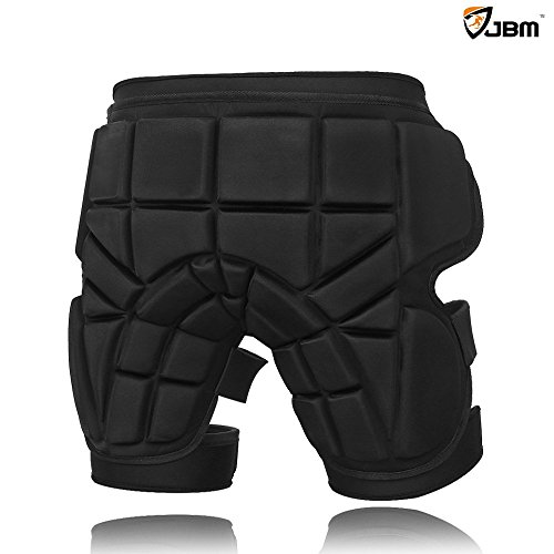 JBM 3 Sizes Hip Padded Shorts Adjustable Protective Gear for Multi-sports Purpose: Snow Skiing, Hockey, Skateboarding