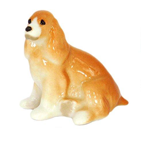 Cocker Spaniel Dog Tiny Lomonosov Porcelain Collectible Figurine