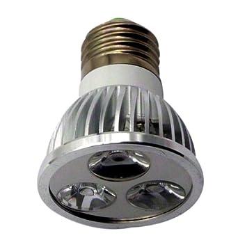 Generic E26/E27 ACDC 110~220V 9 W 3 x 3 W LED de intensidad regulable de focos de luz lámpara Bombilla Downlight iluminaciones casebomb blanco PACK OF 8: ...