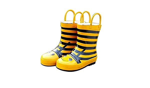 1bb196f2c6f Amazon.com | Cute Starry Kids' Rain Boots Yellow Bee Children Rainy ...