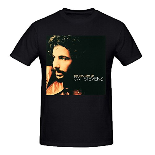 The Very Best Of Cat Stevens Graphic T Shirts For Men Crew Neck Black