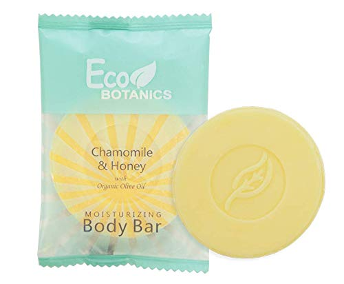 Eco Botanics Travel-Size Hotel Body Bar Soap, 25 grams (Case of 250)