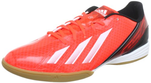 adidas Performance F10 IN - Zapatos de fútbol de material sintético hombre rojo - Rot (INFRARED / RUNNING WHITE FTW / BLACK 1)