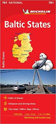 Baltic States - Michelin National Map 781 Michelin National ...