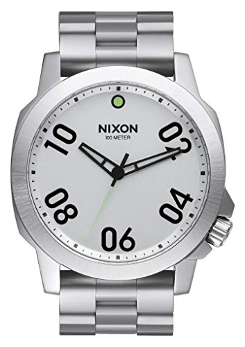 (Nixon Men's Analogue Quartz Watch with Stainless Steel Strap A521-130-00)