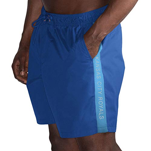 (League Trunks Kansas G-III Sports by Carl Banks Volley Swim Short – Royal (Medium))