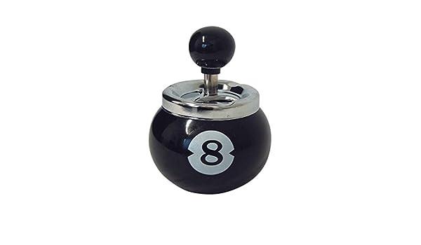 4 x Cenicero con tapa negra de deriva Ocho 8 8 bola billar bola ...