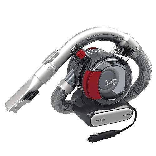 BLACK+DECKER Flex Car Vacuum, 12V Corded (BDH1200FVAV), Iron/Red