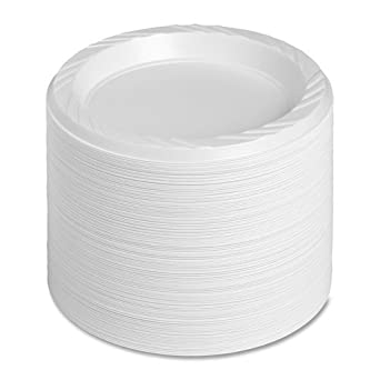Genuine Joe GJO10327CT 6u0026quot; White Plastic Plates Reusable/Disposable for Hot or Cold  sc 1 st  Amazon.com & Amazon.com: Genuine Joe GJO10327CT 6