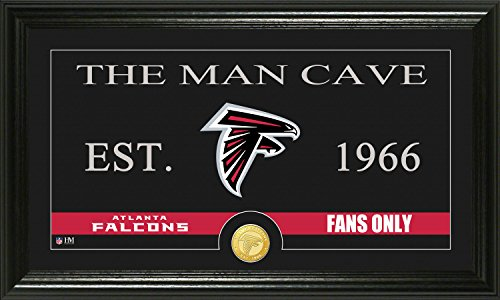 Nfl Atlanta Falcons  Man Cave  Panoramic Photo Minted Coin  21  X 14  X 3   Bronze