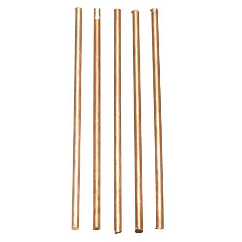 5Pcs 99.9/% Pure Copper Cu Metal Rods Cylinder Diameter 4mm Length 100mm