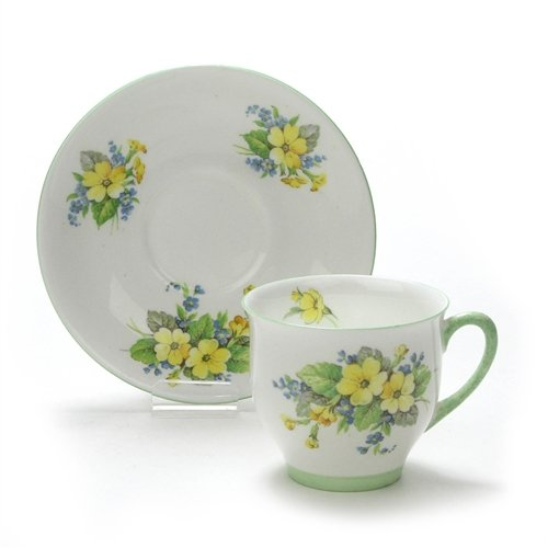 - Cup & Saucer by Royal Standard, China, Yellow Flowers