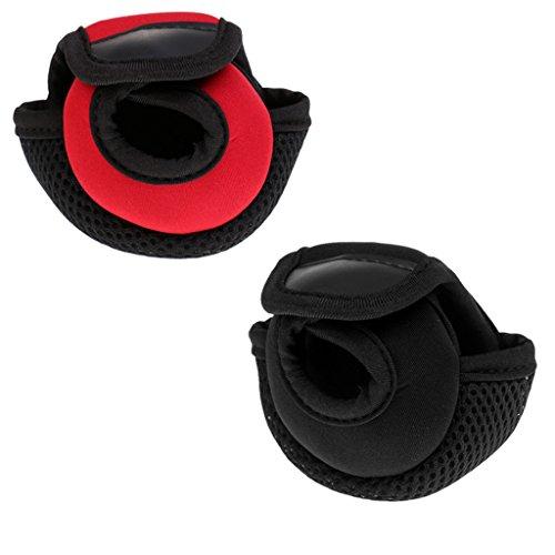 (Dovewill 2Pcs Baitcasting Reel Covers Neoprene Baitcaster Reel Pouch Wear-resistant)