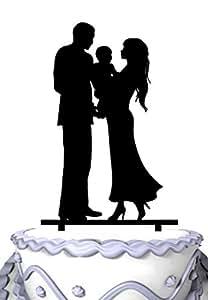 Amazon Com Meijiafei Bride Amp Groom Holding Baby Silhouette