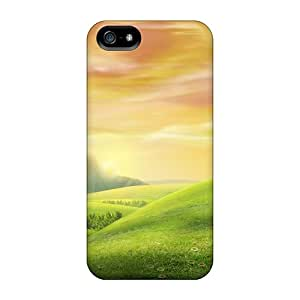 Durable Defender Case For Iphone 5/5s Tpu Cover(sheeps On The Hill)