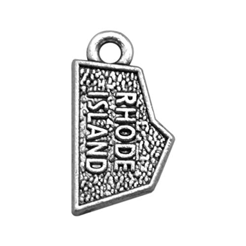 4 Rhode Island State Charms, Antique Silver Tone (1I-251)