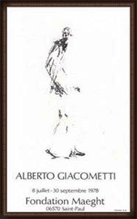 ポスター アルベルト ジャコメッティ Dessin 2 額装品 ウッドハイグレードフレーム(オーク) B0031JTE68 オーク オーク