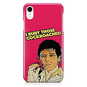 Loud Universe Cockroaches Tony Montana iPhone XR Case Scarface Movie Poster iPhone XR Cover with 3d Wrap around Edges