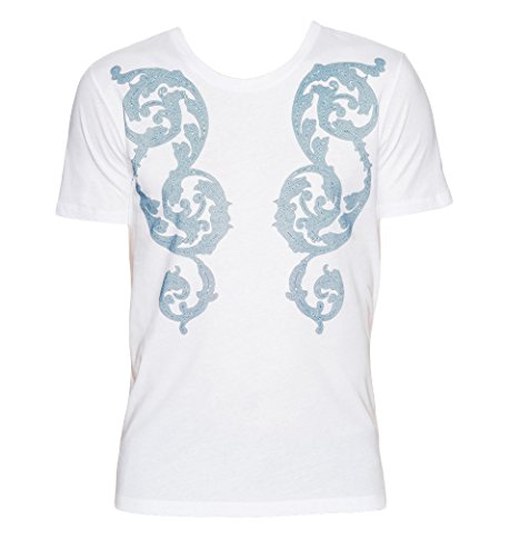(Versace Collection White Printed T-shirt (2XL))