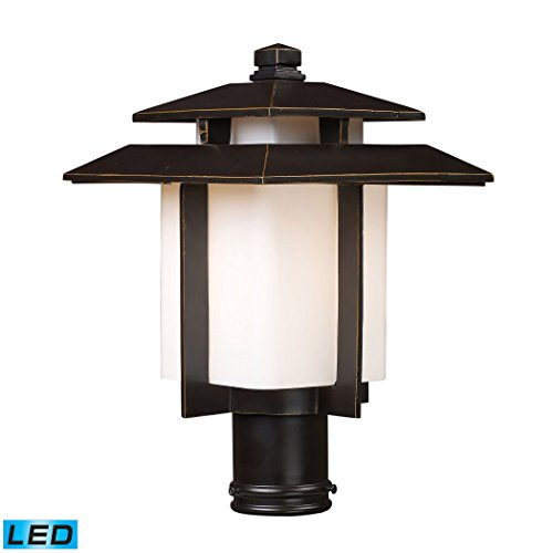 - Alumbrada Collection Kanso 1 Light Outdoor LED Pier Mount In Hazlenut Bronze