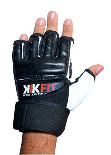 KIKFIT Leather Body Martial Arts GEL Gloves MMA Kick Boxing Punch Bag Muay Thai UFC
