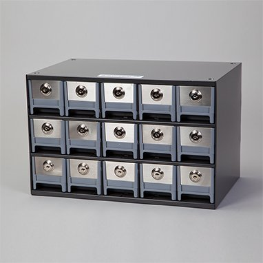 DSS Security Cassette With 15 Locking Drawers/Bins